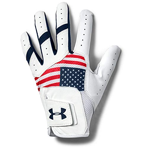 Under Armour Men's UA Iso-Chill Golf Glove, Red (600)/Academy Blue, Right Hand Medium