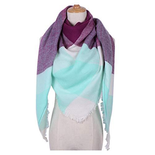 teng hong hui Frauen Triangular Große Winter-weiches Tuch Warm Cozy Decke Warm Cozy Decke Maxi-Plaid-Verpackungs-Schal Cape