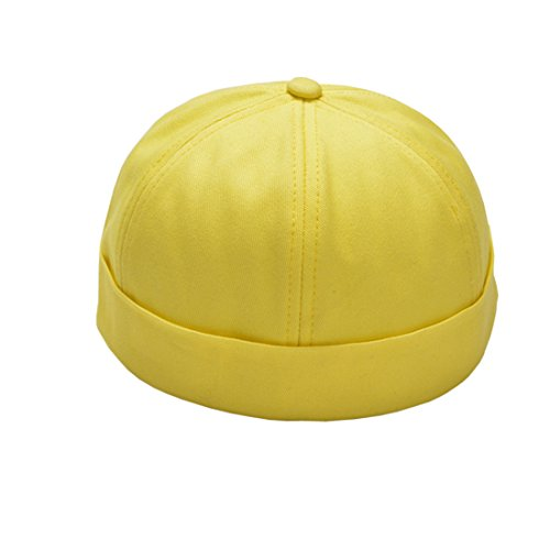 Yue Lian Yue Lian Herren Hüte Docker Cap Dockermütze Baumwolle Seemannsmütze(Gelb)