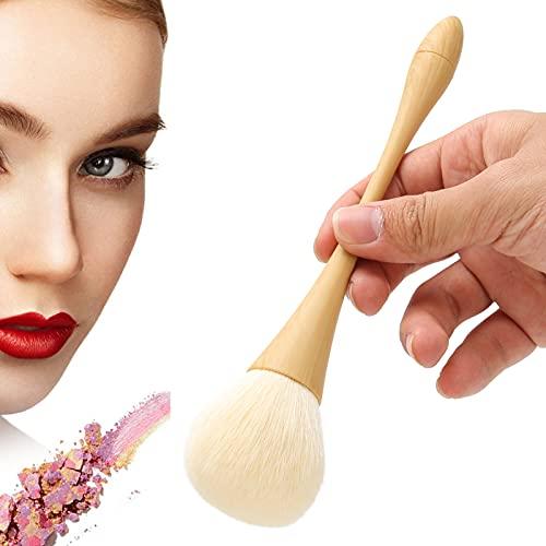 Liujaos Cepillo para Limpiar el Polvo de uñas, Material de Nailon Cabello Cepillo para Polvo de uñas Suave y Esponjoso Cabezal de Cepillo en Forma de Hongo para salón para