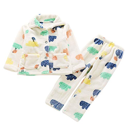 Pijamas Niños Niñas Ropa De Dormir Collar De Mantón