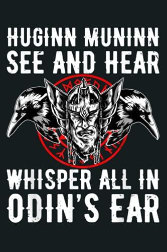 Huginn Muninn Odin Raven God Wotan Thor Gift: Notebook Planner - 6x9 inch Daily Planner Journal, To Do List Notebook, Daily Organizer, 114 Pages