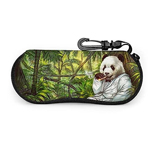 Funda de gafas con cremallera para disfraz de cigarro Panda Anti-Scratch portátil viaje suave horizontal gafas caso para hombres y mujeres