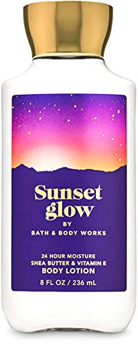 Bath and Body Works Full Size Body Care New Fall 2020 Scent - Sunset Glow - 24 HR Moisture Body Lotion - 8 fl oz