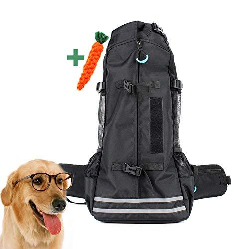 DOODOO - Mochila portátil para mascotas de hasta 14 kg, para perros grandes y transpirables, mochila ligera para vacunación, bicicleta, autobús, compras, caminata larga, senderismo, viajes