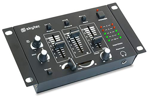 Skytec STM-2211B Audio-Mixer 4Kanäle 20–20.000Hz Schwarz–Audio-Mixer (4Kanäle, 20–20.000Hz, 70dB, 80dB, 1.000Ohm, 0,15V)