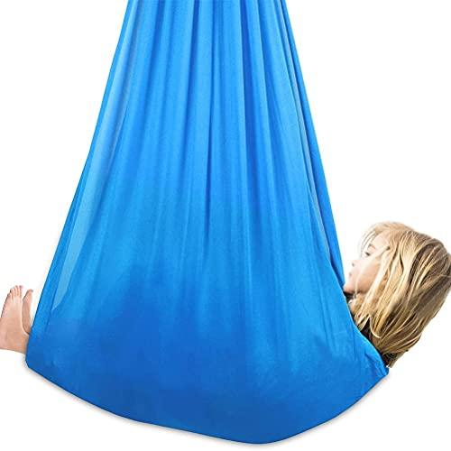 YUDIZWS Ajustable Elástico Hamaca Integración Sensorial Terapia De Interior Swing con Necesidades Especiales para Niños Y Adolescentes (Color : Sky Blue, Size : 100x280cm)