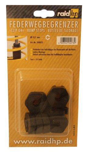 Raid HP 300023 Federwegbegrenzer Clip-On 12 mm Durchmesser (Verhindern das Aufschlagen der Karrosserie auf die Räder)