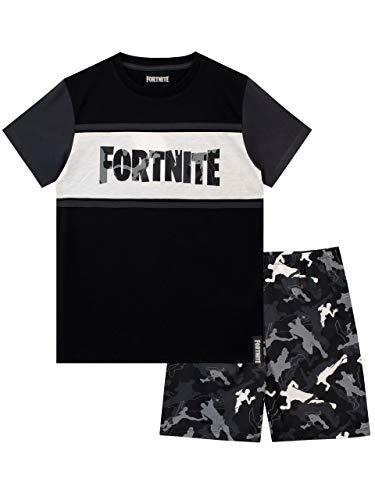 Fortnite Pijamas para Niños Negro Small