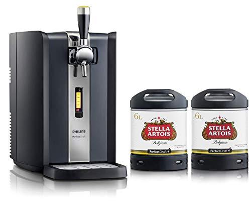 Grifo de cerveza PerfectDraft. Incluye 2 barriles de 6 litros - Incluye un depósito de 10 euros. (Stella Artois) - Regalo de navidad ideal