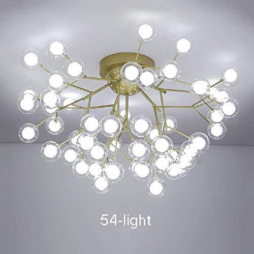 GaoF Iluminación de araña Moderna 36 Luces Elegante y Simple Acabado Dorado Restaurante Cocina Isla Iluminación Colgante de Techo Lámpara de Techo de Mediados de Siglo