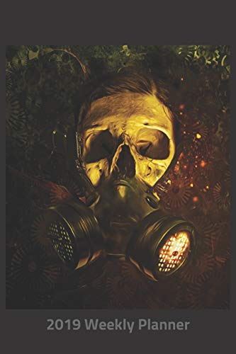 Plan On It 2019 Weekly Calendar Planner -  Skull In Gas Mask: 14 Month Pocket Appointment Notebook