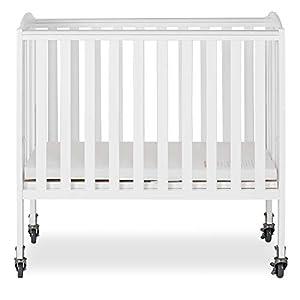 Dream On Me 2-in-1 Folding Birch Portable Crib, White