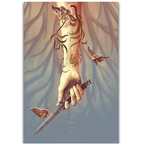 The Last Of Us 2 Hot Game Wall Art Pintura Impresión en lienzo Poster Decoración del hogar Impresión en lienzo-50x70cm Sin marco
