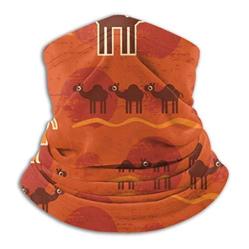 Lzz-Shop Desert Camel Leuke nek Warmer - hoofdbanden sjaal hoofdwikkeling, hals gamasche pijp vissen, gezicht sport sjaal