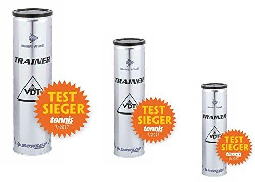 Dunlop VDT Trainer Tennisbälle 3 x 4er Dosen 12 Bälle Testsieger 02/17 Tennismagazin