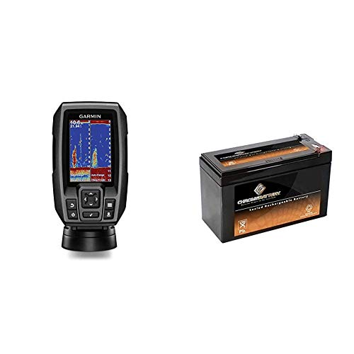 Garmin Striker 4 with Transducer, 3.5' GPS Fishfinder with Chirp Traditional Transducer Bundle with...