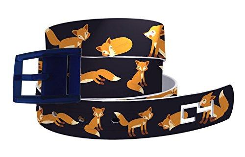 C4 Belts Navy Fox Belt with Navy Buckle - Fashion Belt - Waist Belt for Men and Women