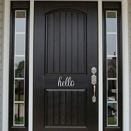 Hello Decal, voordeur, ontry Way Decor, voordeur, 12 inch in breedte