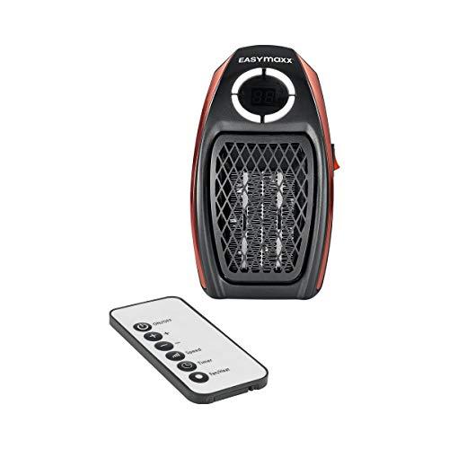 EASYmaxx Mini-Heizung 500W mit Fernbedienung in Schwarz