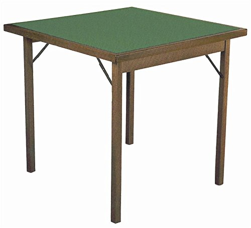 F.lli Del Fabbro Folding Game Table, Solid beech, Walnut, 80X80x74,5h
