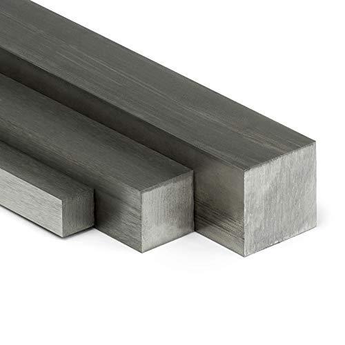 Edelstahl Vierkant VA V2A blank h11-20x20mm | L: 250mm (25cm) auf Zuschnitt