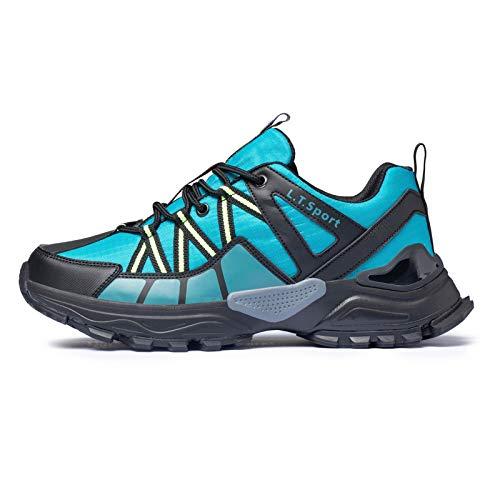FITORY Scarpe Sportive da Uomo Scarpe da Jogging All'aperto Fitness Traspirante Antiscivolo Blu Verde Taglia 40