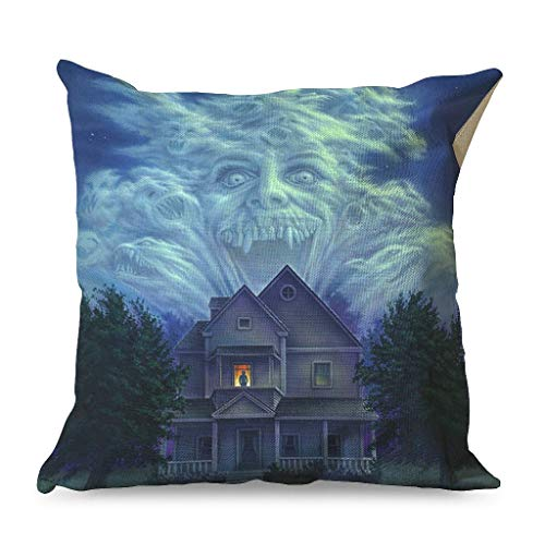 Xuanwuyi Fright Night on the Right Night Halloween Horror Pillow Case 16x16 18x18 20x20 Inch for Sofa Square White Modern Style white 45x45cm