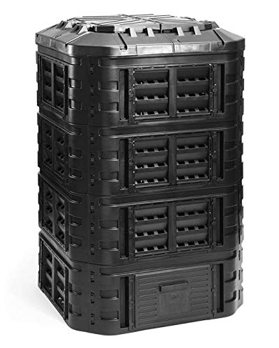 myGardenlust Komposter eckig - Schnellkomposter aus Kunststoff - Thermokomposter als praktisches Stecksystem - Kompostierer stabil und hochwertig - Composter für Garten-Abfälle - 1120L