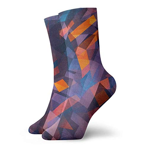 Prisma con seis caras Calcetines casuales transpirables Calcetines deportivos de viaje Yoga Caminar Ciclismo Correr Fútbol 30cm