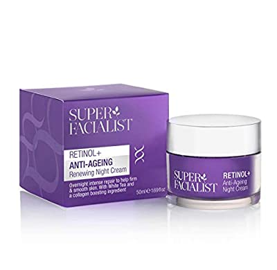 Super Facialist Retinol + Anti-Ageing Night Cream 50ml Women's Overnight Face Cream Reduces Fine Line & Wrinkles Hydrating Hyaluronic Acid Scientifically proven formula reduces fine lines & wrinkles from Brand Architekts