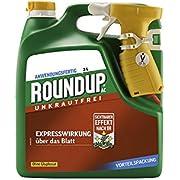 ROUNDUP AC Unkrautfrei Sprühsystem 3 l - Unkrautvernichter schnell und effektive Wirkung in Beeten oder Gartenwegen