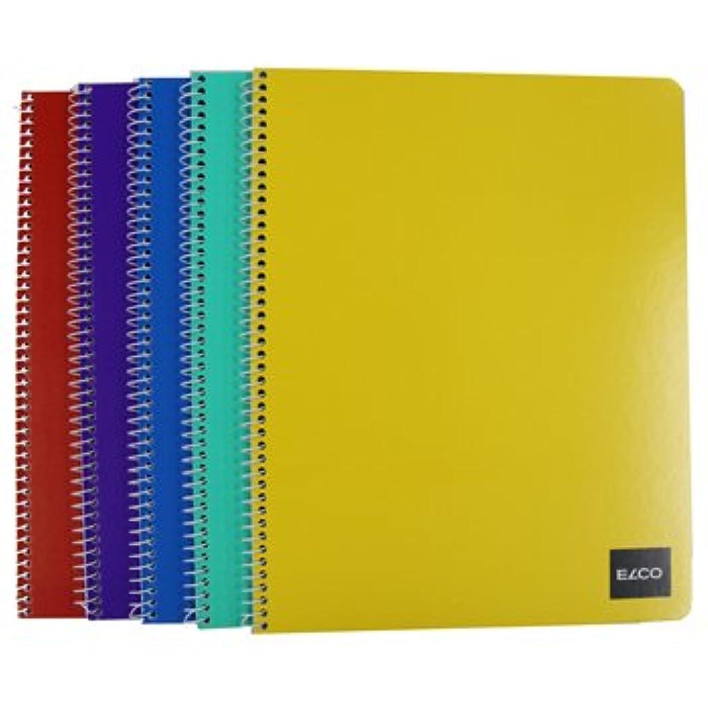 ELCO Office 4mm罫線リングノート5冊入 A4サイズ (72881-07)
