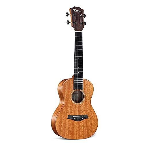 PJDOOJAE Beste concert ukulele voor beginnersgitaar folk gitaar met tas, breng eindeloze plezier aan volwassen beginners. Ukulele is uitgerust met gepolijste doek en reserve-snaren, zodat u ten volle