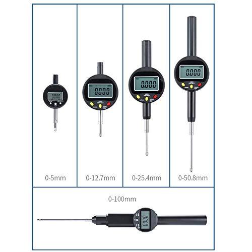 Digitale Messschieber Einbaumessschrauben 0.001 Anzeigetabelle Messuhr Zoll/Metrisch Umrechnung 0-10/12.7/25.4/50.8 Mm Daten Automatisch Erfassen,T5.1mm