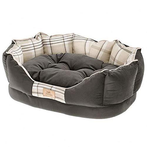 FERPLAST Cushion Dog Bed Hundebett Katze Charles 60, Braun, Medium