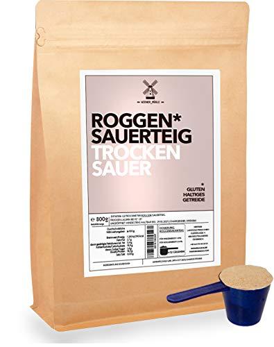 Roggen-Sauer-Teig-Pulver getrocknet 800g selbst gemachtes Brot backen mit Natur Trockensauer inkl Dosierlöffel