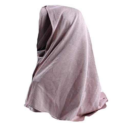 Baihua Muslim Hijab - Pañuelo elástico de algodón absorbente para el cuello de Hijab, style4