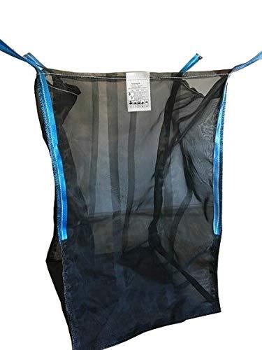 Hochwertiger Big Bag für Holz mit Sternenboden * speziell für Brennholz * Woodbag, Holzbag, Brennholzsack * 100x100x120cm * voll Netzgittergewebe * Holz trocknen + transportieren