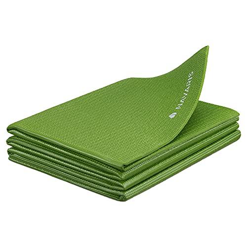 Navaris Esterilla de Yoga Antideslizante - Colchoneta de Gimnasia Plegable - 173...