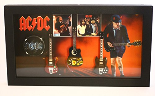 RGM8801 Angus Young ACDC Miniature Guitar Collection in Shadowbox Frame