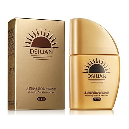 YDDX Blanqueamiento Anti-Freckle Protector De Sol De Protección Solar A Prueba De Sol, Protección De Protector Solar Avanzada, Reduce El Riesgo De Alergias Al Sol (30 G)