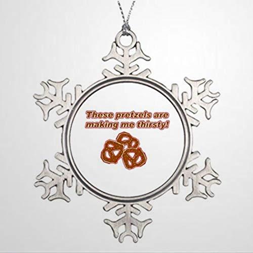 BYRON HOYLE árboles de Navidad decorados estos pretzels Are Making Me Sed, fotos de Navidad, copo de nieve, adornos de Navidad, decoración de boda, regalo de vacaciones