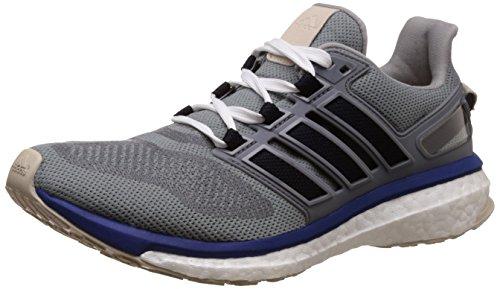 adidas Herren Energy Boost 3 Laufschuhe, Grau (mid Grey/Unity Ink/Vapour Green), 40 EU
