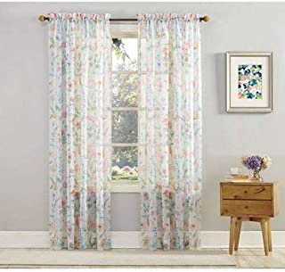 Mainstay Marjorie Sheer Voile Curtain Panel, 59x63 Floral