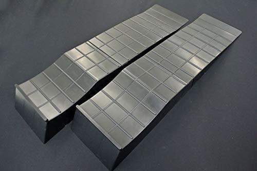 SilkRoad(シルクロード) 2ピース構造 タイヤスロープ ブラック 2輪分 [99-R01MBK]