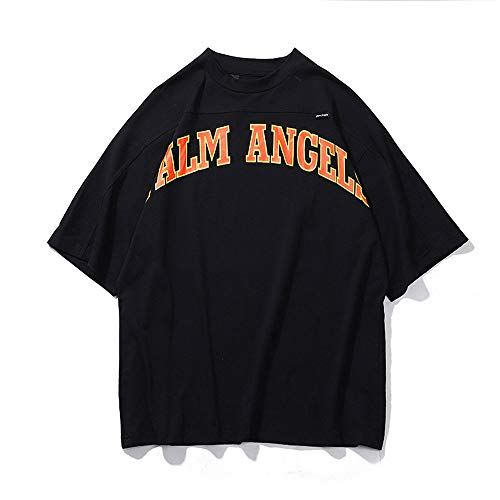 Mannen Vrouwen T-shirt Palm Angel korte mouw Oversize Letters Printed Cotton Medium mouwen T-shirts,L