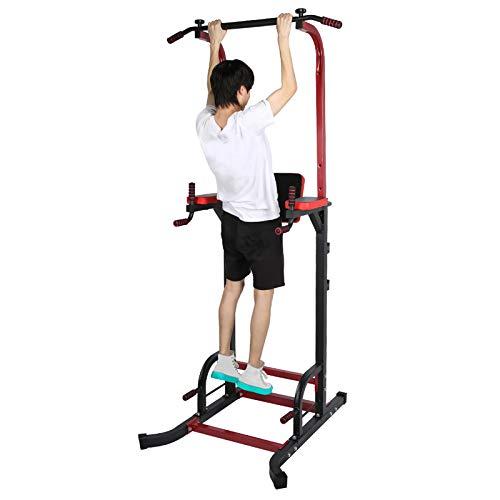 Pissente Estación de Musculación, Torre Multifuncional de Altura Ajustable para Entrenamiento en Casa Gimnasio