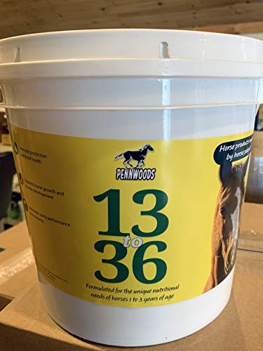 Pennwoods Equine Products 13 to 36-11 LBS | Growth | Breeding | Weight Gain | Horse Supplement | Horse Vitamin | Vitamin E | Selenium | Immune Support | Hoof