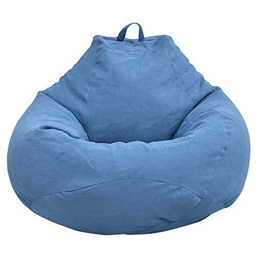 Dandelionsky Klassischer Sitzsackbezug, Bezug für Sitzsack, Faulenz-Liege, für Erwachsene und Kinder, ohne Füllung, baumwolle, blau, 100x120cm